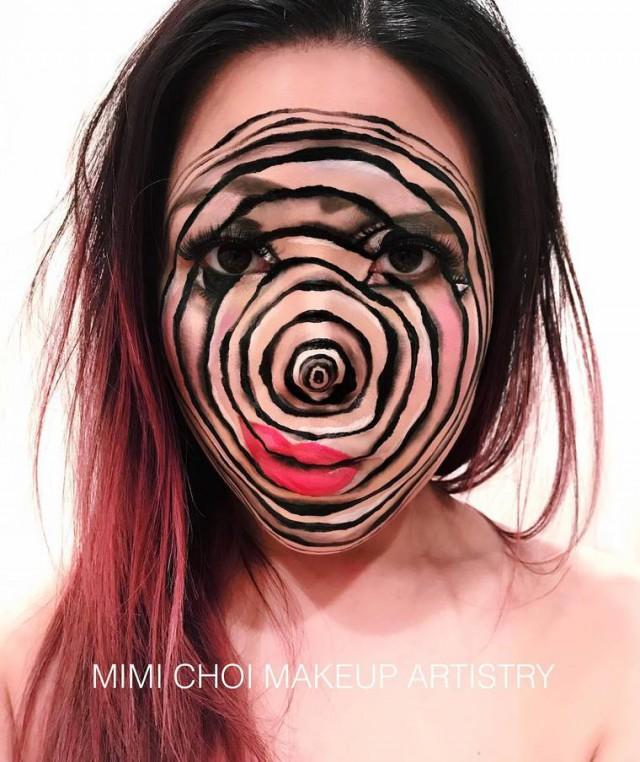 Жутковатый макияж от Мими Чой (19 фото)