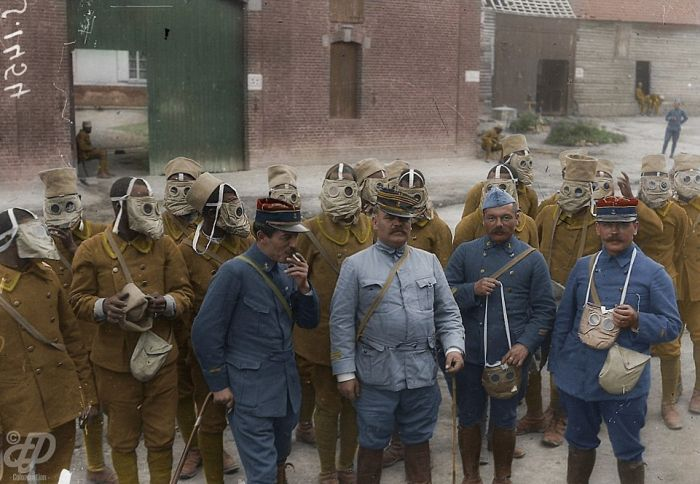 Окрашенные фотографии Первой мировой войны (23 фото + видео)