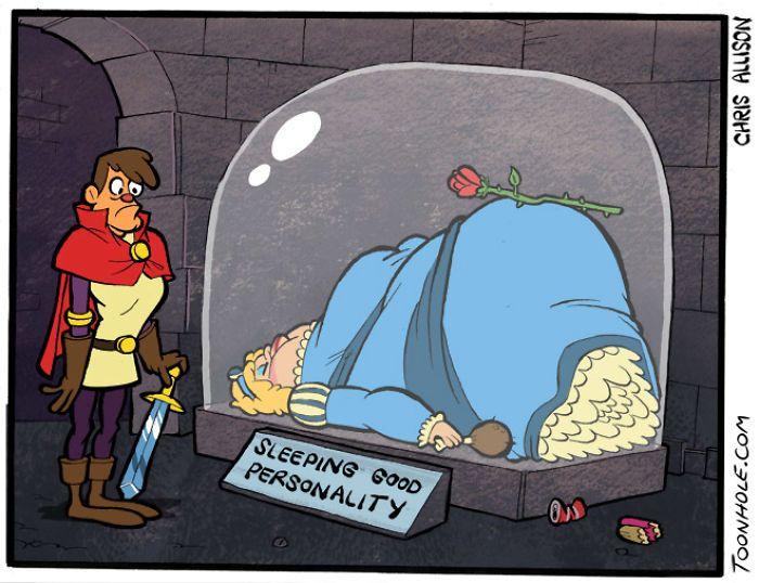 Взрослые комиксы по мотивам детских сказок (12 картинок)