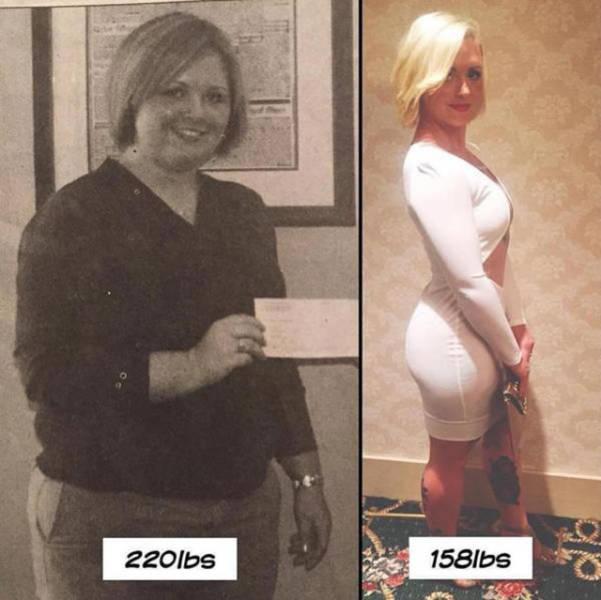 Люди, поборовшие лишний вес (39 фото)