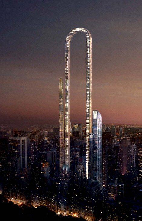 В Нью-Йорке хотят построить самый длинный небоскреб (8 фото)