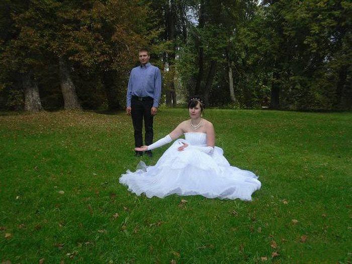 Необычные свадебные фото (47 фото)