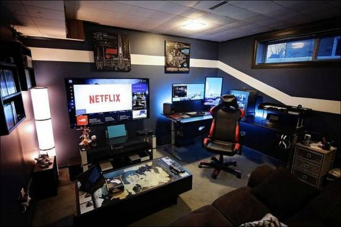 Комнаты, о которых мечтает каждый геймер (26 фото)