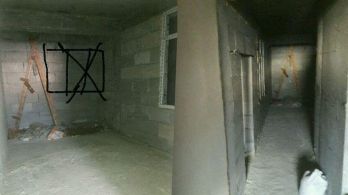 В дагестанской новостройке замуровали окна, выходящие на резиденцию муфтия (3 фото)