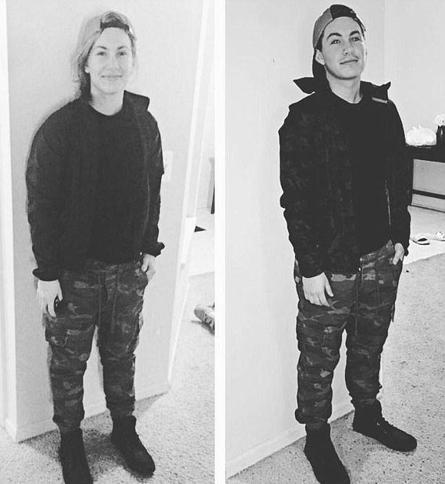 Трансгендер поделился снимками, демонстрирующими его перевоплощение из девушки в парня (7 фото)