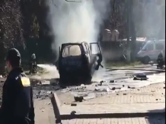 В Мариуполе в своем автомобиле погиб полковник СБУ Александр Хараберюш