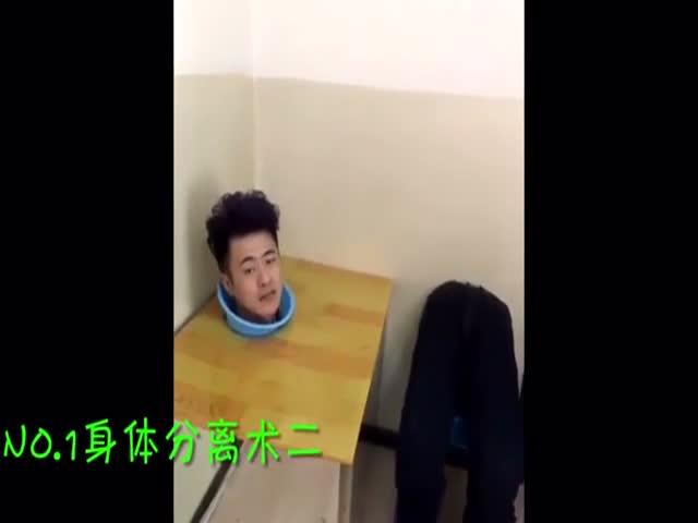 Китаянка разоблачает мужа-фокусника
