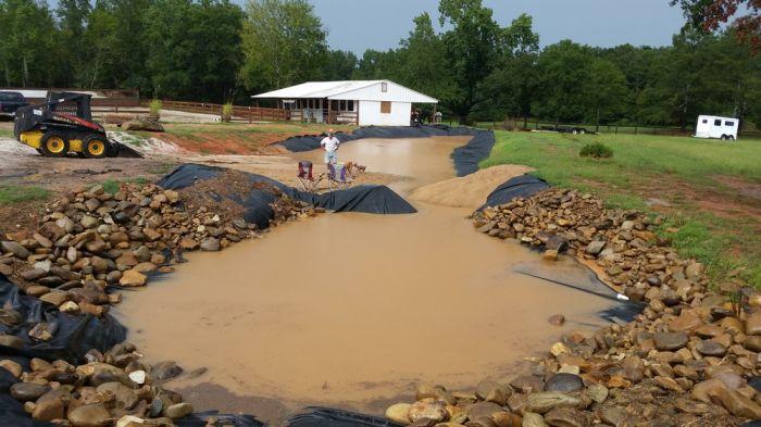 Создание пруда у дома (38 фото)