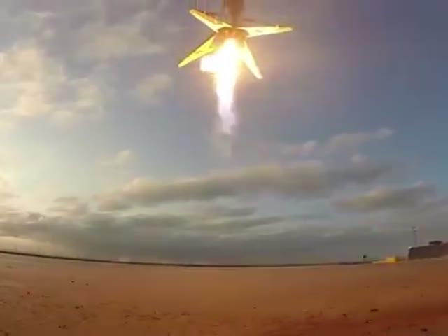 Управляемая посадка первой ступени ракеты-носителя Falcon 9