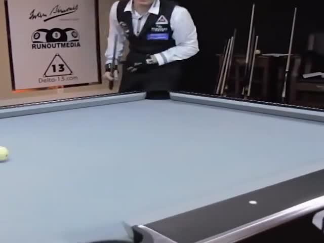 Потрясающие трюки на бильярдном столе