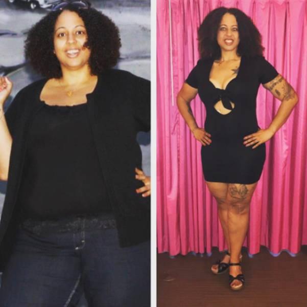 Мотивирующие фото людей, поборовших лишний вес(41 фото)