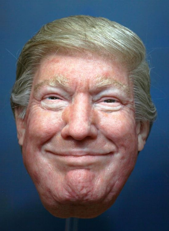 Гиперреалистичные маски Владимира Путина, Дональда Трампа и Ким Чен Ына (9 фото + видео)