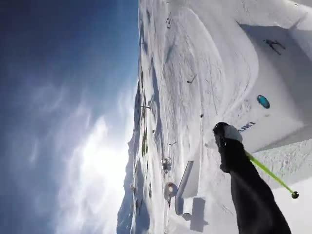 Невероятный лыжный фристайл от Йеспера Джадера