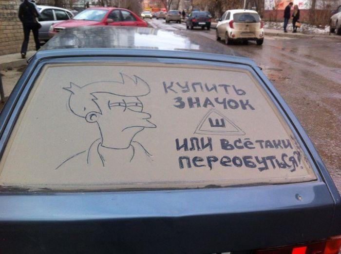 Автоприколы с наклейкой «Шипы» (44 фото)