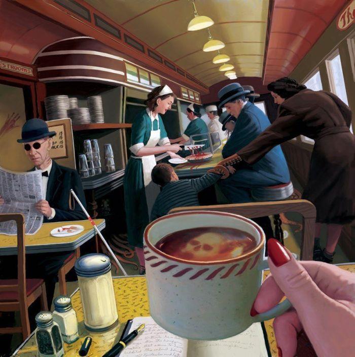 Странный кафетерий (картинка)