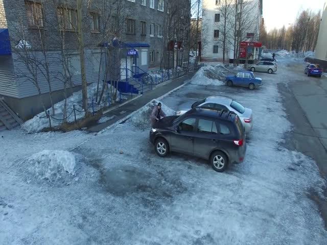 Бой жителя Мурманской области с дроном