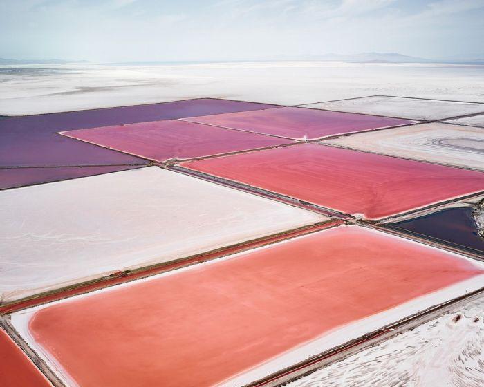 Соляные поля Австралии и Северной Америки с высоты птичьего полета (35 фото)