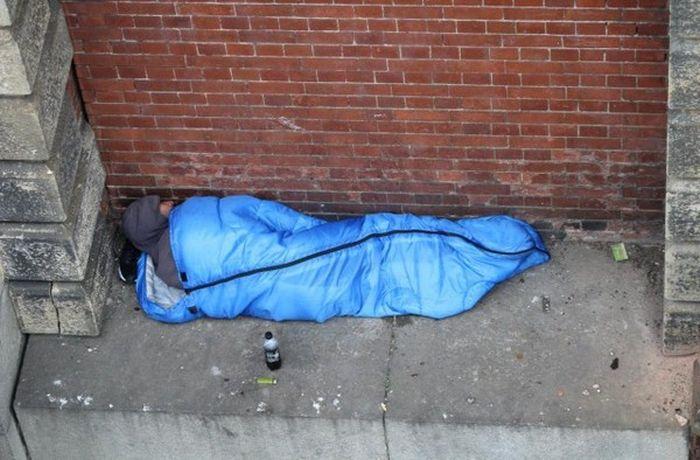 Бездомный из Лондона прославился своим бесстрашием (3 фото)