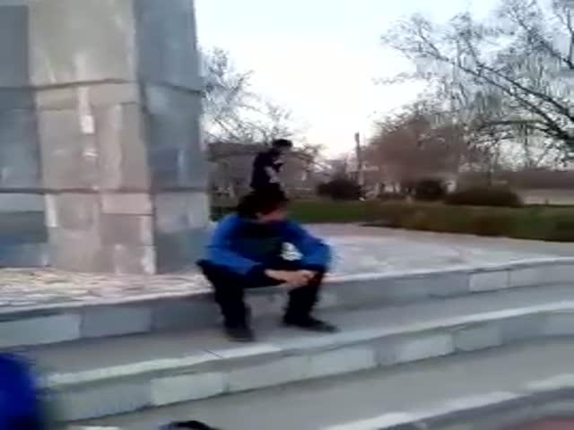 Паркур у Вечного огня в Ахтубинске