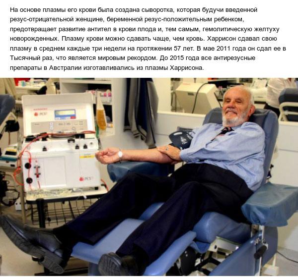 Донор-рекордсмен, спасший более 2 миллионов жизней (3 фото)