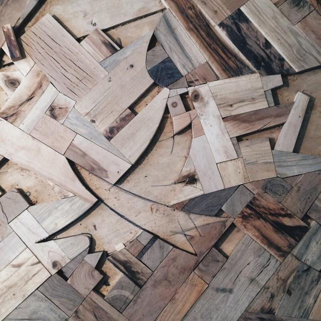 Дизайнерский пол из древесины (14 фото)