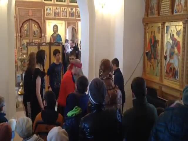 Шоу в храме Рождества Пресвятой Богородицы Перемышля