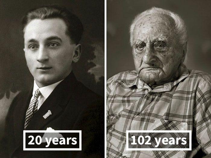 Чешские старожилы в молодости и сейчас (12 фото)