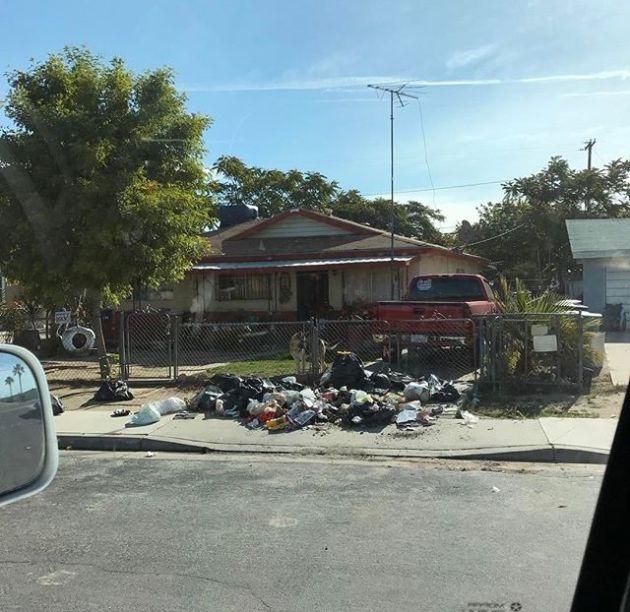 Месть любителю выбрасывать мусор в неположенных местах (2 фото)