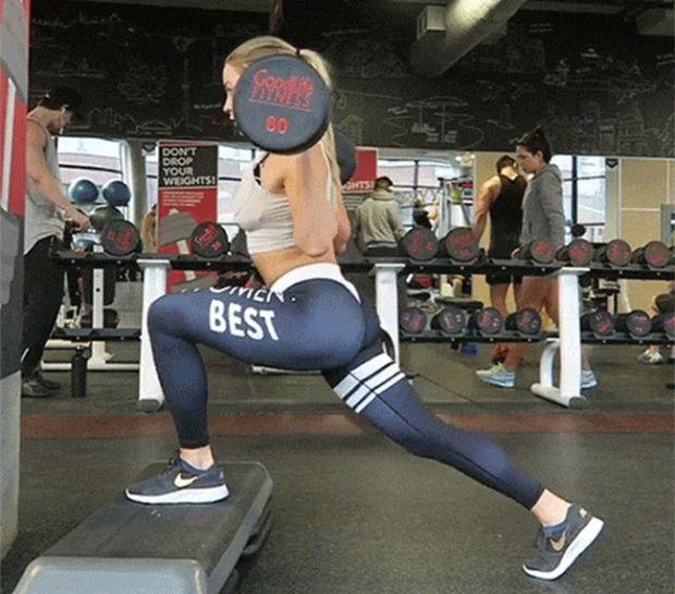 Спортивные девушки тренируются (24 гифки)