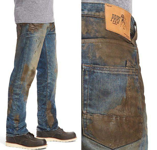 Дизайнерские «грязные джинсы» за 425 долларов (5 фото)