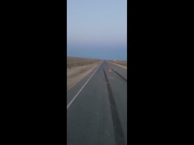 Авария на трассе в Казахстане