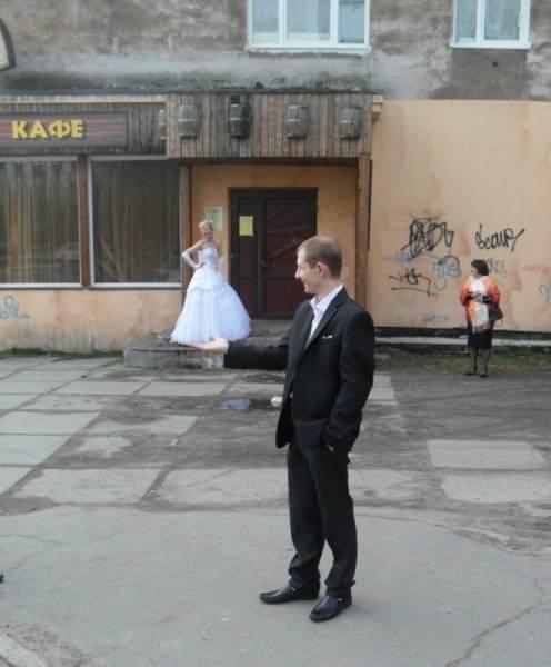 Смешные свадебные фото (48 фото)