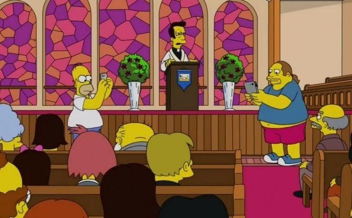 Гомер из «Симпсонов» ловил покемонов в храме (2 фото)