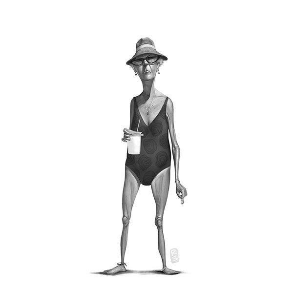 Забавные персонажи с пляжей (9 картинок)