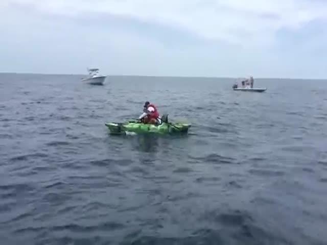 Рыбак поймал акулу