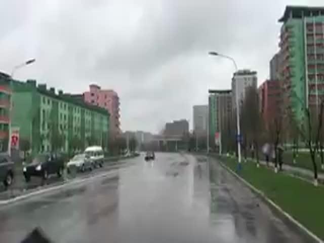 Поездка по улицам Пхеньяна