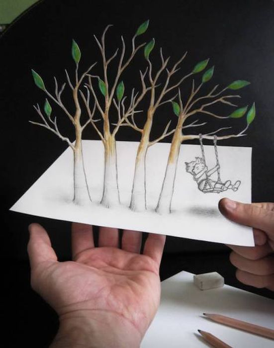 Удивительные трехмерные рисунки (25 фото)
