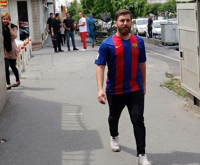 Иранский двойник футболиста Лионеля Месси задержан за нарушение общественного порядка (7 фото)
