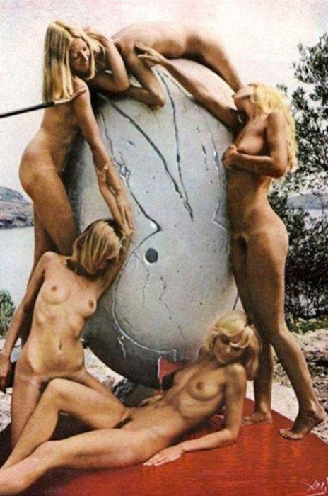 Фотосессия Помпео Позара и Сальвадора Дали для журнала Playboy, 1973 год (7 фото)