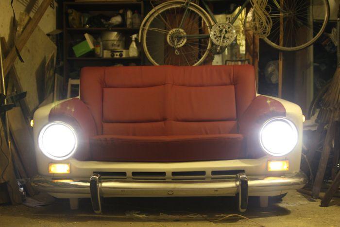 Эксклюзивный диван из ВАЗ-2101 (19 фото)
