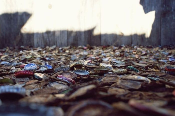 Аллея из бутылочных крышек в Техасе (14 фото)