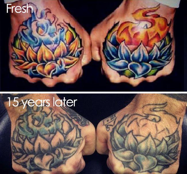 Как выглядят татуировки спустя время (28 фото)