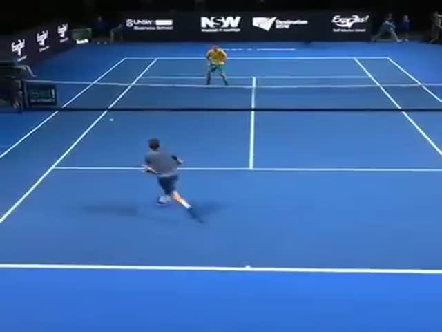 Невероятный теннисный поединок
