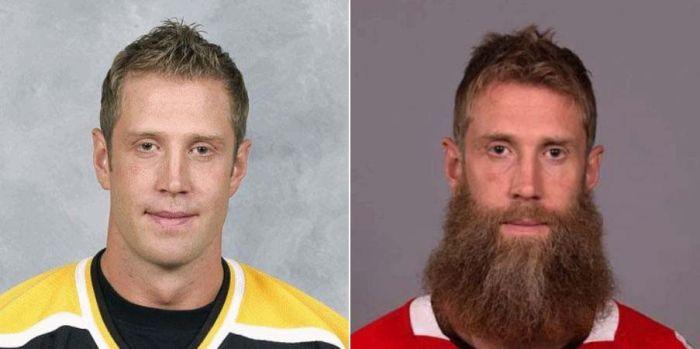 Как изменились хоккеисты NHL, отпустив бороды (10 гифок)