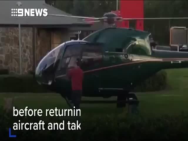 В Сиднее мужчина прилетел в «Макдональдс» на вертолете