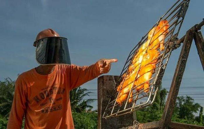 Жаровня на солнечных лучах (4 фото)