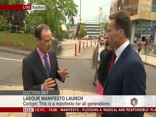 Репортеру BBC досталось от женщины