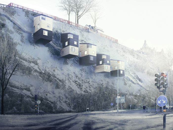 Подвесные наскальные дома от шведской компании Manofactory (5 фото)