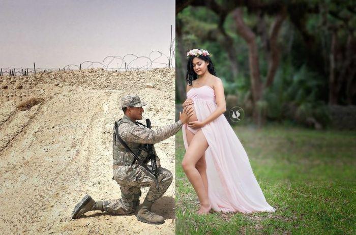 Трогательное фото с фотосессии беременной женщины (3 фото)