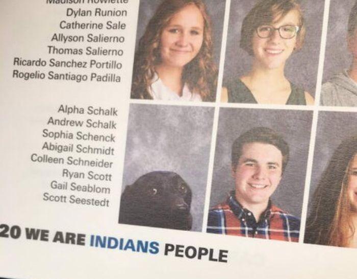Собаку включили в выпускной фотоальбом (3 фото)